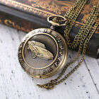 Retro Antique Pattern Pocket Watch Chain Necklace Unisex Vintage Gift