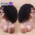 "7A Virgin Mongolian Afro Kinky Curly Wigs Lace Front Human Hair Wigs 10""-16"""