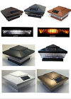 12 Pk Premium Solar 4 X 4 Fence Post Cap Lights With 5 White Or Amber color LEDs