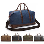 Vintage Canvas Men Leather Travel Gym Duffle Weekend Bag Lightweight Luggage