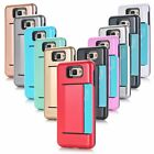 Card King Combination W/ Card Slot Phone Cases TPU PC Shockproof For Samsung Hot