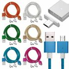 Magnetic 2x Micro USB Plug Data Sync Charging Cable For Samsung S6/S7 LG Huawei