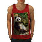Wellcoda Panda Cute Photo Mens Tank Top, Animal Active Sports Shirt