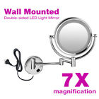 """8"""" Makeup Cosmetic Mirror Beauty Wall Mounted 2-Side 1/10x Magnification Folding"""