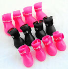 New Candy Colors Pet Dog Waterproof Boots Rubber Rain Shoes Booties S M L