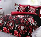 Pieridae floral red bed Set Duvet Cover with Pillowcases all sizes