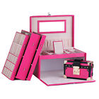 AU Luxury Jewellery box Earring Rings Necklace Storage Travel Case With Lock 243