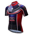 2017 Men's USA Team Cycling Jersey Short Sleeve Bike Bicycle Cycle T-Shirts