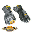 NEW CAN-AM SPYDER MENS VSS LEATHER GLOVES GREY SMALL 4461520407 CLEARANCE