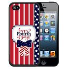 FOURTH 4TH OF JULY RUBBER CASE FOR iPHONE 5 5S SE 5C 6S 7 PLUS STARS FIREWORKS