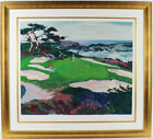 """CYPRESS POINT #15"" by Mark KING. MAGNIFICENTLY FRAMED LE GOLF PIECE! PERFECT"
