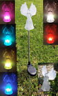 Set Of 4 Garden Decoration Solar Powered Color Changing Pathway Lawn Stake Light