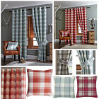 Kindle Check Jacquard Ring Top Curtains (pair Of) - Now £10, £15 & £20 To Clear