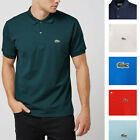 Lacoste Polo Shirt L1264 Heathered Pique Polo Tshirt Authentic Lacoste NEW