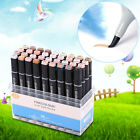 12/24/36 Color Graphic Art Drawing Brush Sketch Marker Pen Set Twin Tip with Box