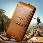 FLOVEME Retro Belt Clip Purse Bag Leather Universal Cards Case Cover For Samsung
