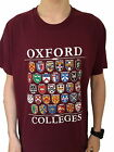 Oxford Colleges T-shirt - Maroon  - Colleges of Oxford, England