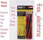 Klein Tools Multimeter Replacement Test Lead Alligator Clip For Fluke Ideal DMMs