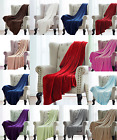 NEW SOLID VERSATILE SUPER SOFT WARM SMALL THROW BLANKET MICROPLUSH MULTIPURPUSE  image