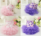Внешний вид - Pet Small Puppy Dog Tutu Dress Lace Skirt Cat Princess Dress Clothes Apparel NEW