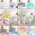 3 PCS 5 7 9 11 PCS COT COTBED BEDDING SET BUMPER CANOPY ORGANISER - MORE COLOURS