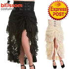 RKN69 Banned Victorian Lace Steampunk Gothic Goth Punk Long Rockabilly Skirt