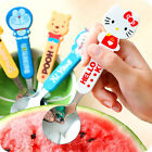Kid Cartoon Figure Stainless Steel +Plastic Safety Round Spoon Ice Cream Cutlery