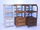 Bookcase Designer Rattan Wicker w/ 2 Drawers 3 Shelves Color Colonial