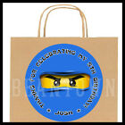 Ninjago Blue Birthday Party Favor Goody Bag STICKERS - Personalized Labels