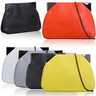 Large Designer Ladies Slouch Clutch Leather Style Women Girls Evening Prom Bags