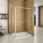 Pivot Hinge Shower Enclosure Cubicle Tray Adjustable Door Screen Side Panel 900
