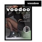 WOMENS 5 PACK VOODOO SHEER TIGHT WITH ANKLE SOCK Black Stockings Pantyhose