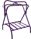 Portable Western or English Folding Floor SADDLE RACK   Stand with Bridle Hook