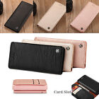 Samsung Galaxy S8 Plus Genuine Leather Case Card Holder Wallet TPU Case Cover e