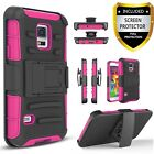 For Samsung Galaxy S5 / S5 Active Case,Belt Clip Cover+Tempered Glass Protector