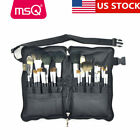 US DELIVERY Professional 12PCs Eyeshadow Makeup Brushes Sets PU Leather Bags MSQ