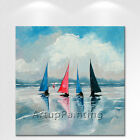 Oil Painting Modern Abstract boat yacht Wall Art On Canvas Hand Painted 1
