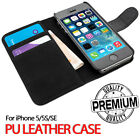 Flip Wallet Leather Case Cover For Apple iPhone 5 5S SE [B064