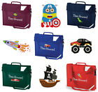 Personalised Name Embroidered Book Bag with Strap Nursery Reception Preschool