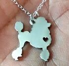 Poodle Dress Cut Necklace - Sterling Silver Jewelry - Gold - Rose Gold - Engrave