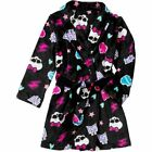MONSTER HIGH GIRLS PLUSH BATH ROBE ~ NEW ~ NWT ~ YOU CHOOSE SIZE!