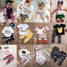 Toddler Infant Newborn Baby Boy Girl T-shirt Tops+Pants Outfits Set Clothes lot