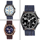 Adixion Round Dial Analog PU Leather Strap Waterproof Men's Wrist Watch