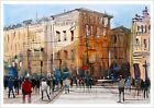 Fine Print of La Rambla Street Barcelona Watercolour Painting Urban Landscape HQ