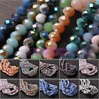 Bulk Lot 6X4mm Rondelle Faceted Loose Spacer Glass Beads Charms Jewelry Making