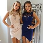 Women Casual Sleeveless Bodycon Cocktail Evening Party Lace Mini Dress New