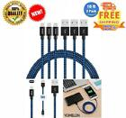 3 Pack 10FT Lightning Cable Nylon Braided Extra Long Tangle-Free Cord Lightning