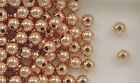 12k Rose Gold Filled 8mm Round Seamless Spacer Beads, Choice of Lot Size & Price