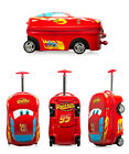 Cars 1 2 3 Movie Lightning Mcqueen Suitcase Luggage Baggage Valise Bag Rolling
