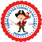 Personalised Pirate stickers For Sweet Cones etc, 3 Sizes - Ref MX08-16